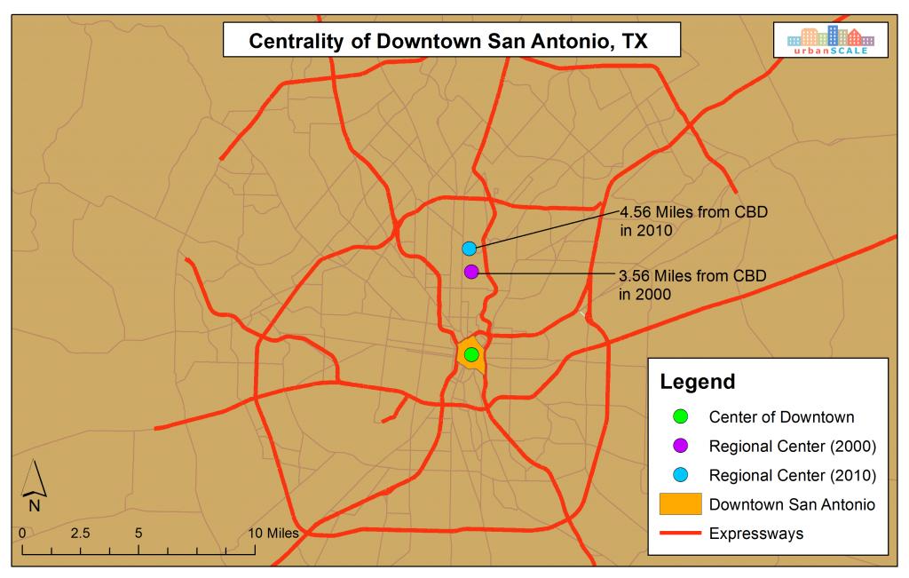 Centrality of Downtown San Antonio, TX