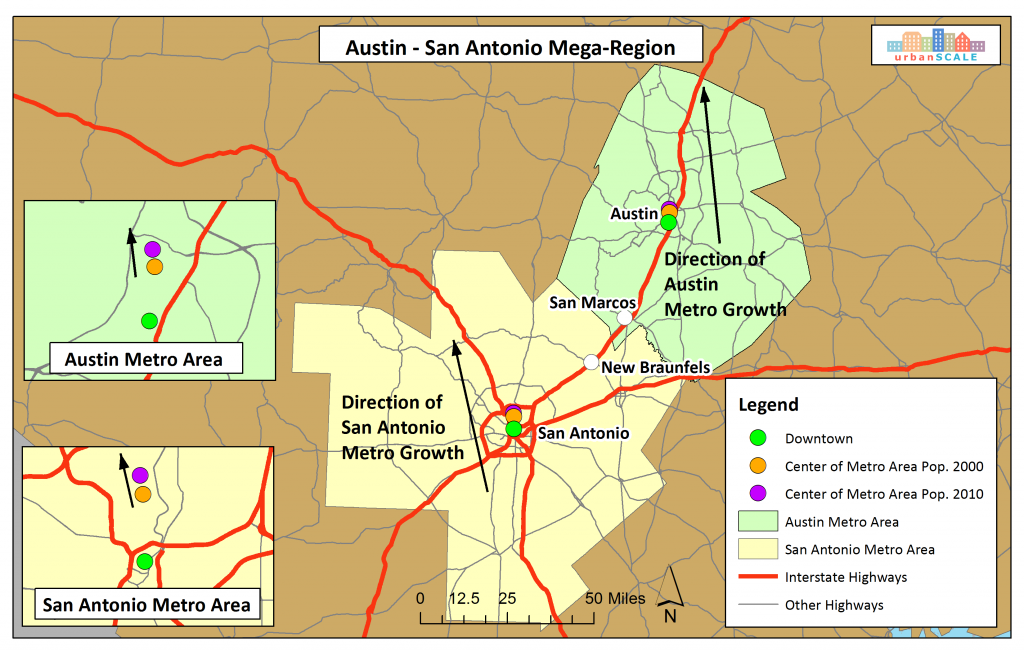 Austin-San Antonio Mega-Region Map