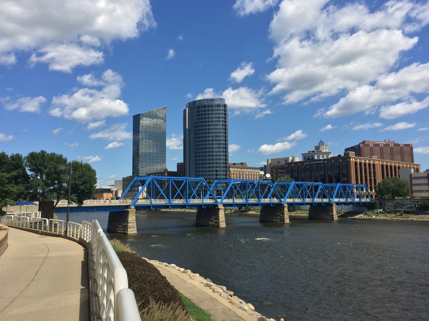 Image Credit: Blue Bridge Downtown Grand Rapids by Steven Depolo via Flickr (CC BY 2.0)